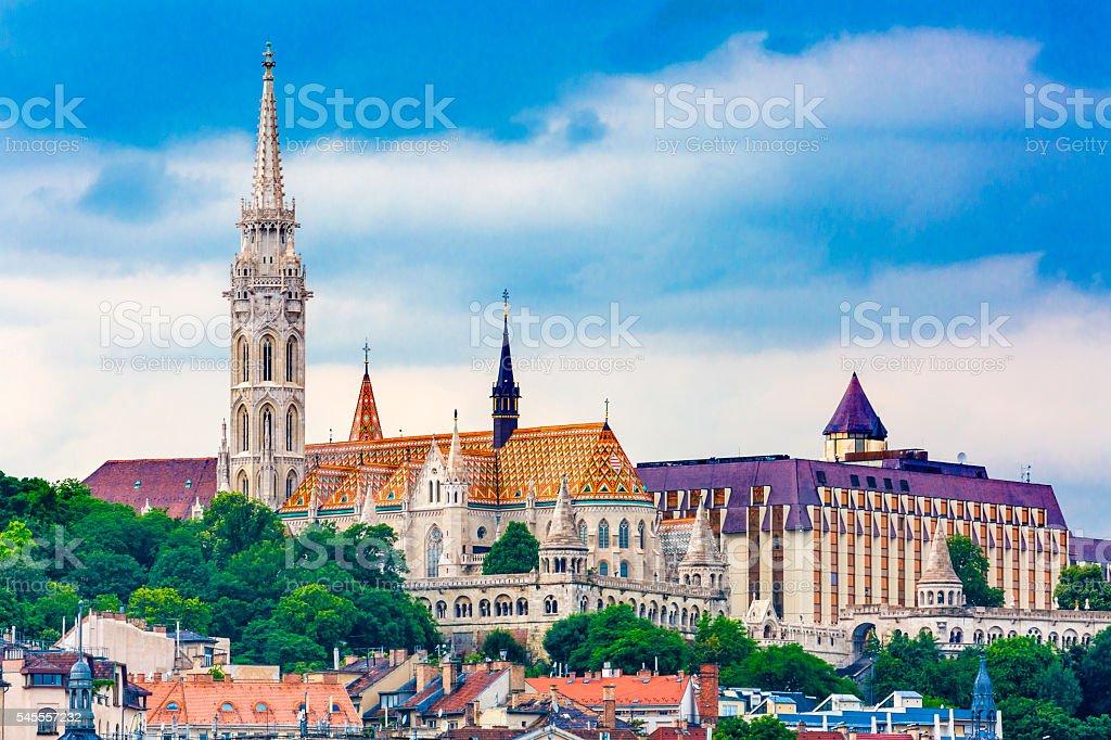 Matthias Church Budapest Hungary stock photo