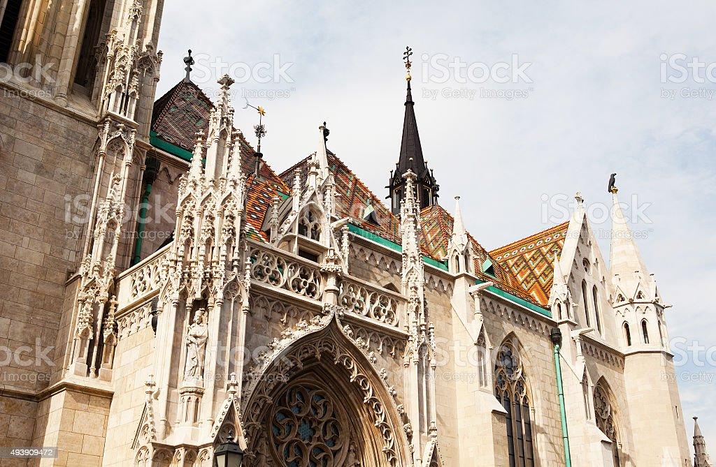 Matthias Church, Budapest. stock photo