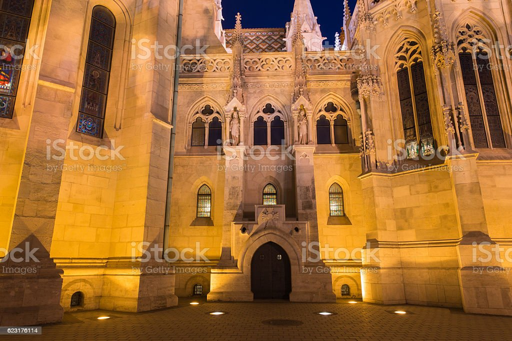 Matthias Church in Budapest Hungary stock photo
