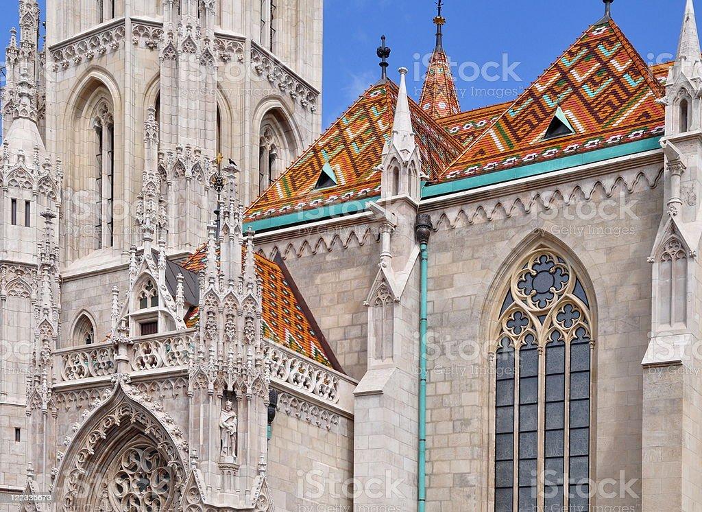Matthias church in Budapest royalty-free stock photo
