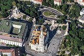 Matthias Church in Budapest viewed from the air