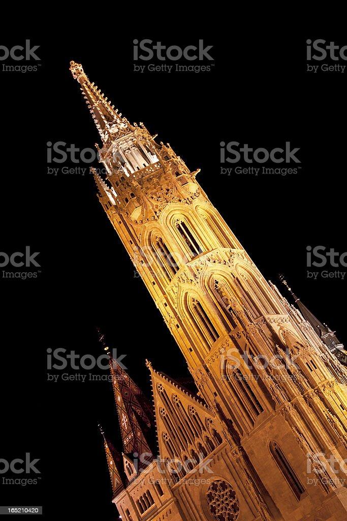 Matthias Church tower royalty-free stock photo