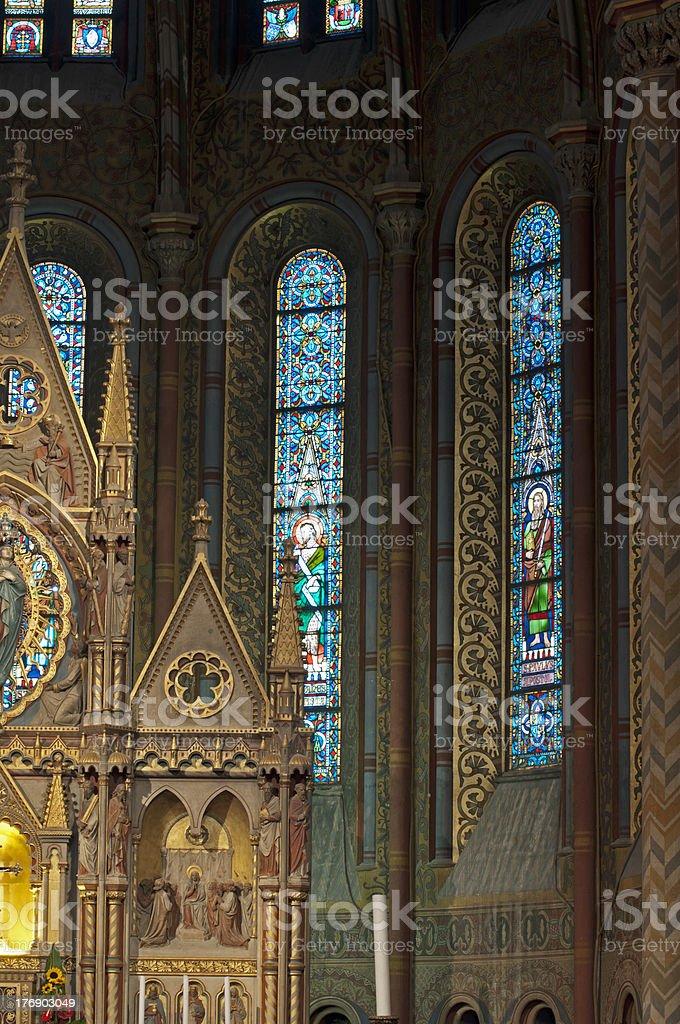 Matthias Church's altar stock photo
