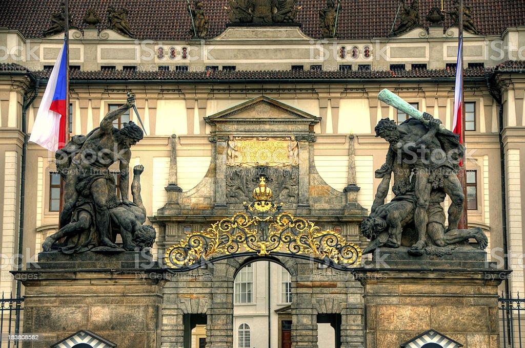 Matthias gate, Entrance of Prague Palace royalty-free stock photo