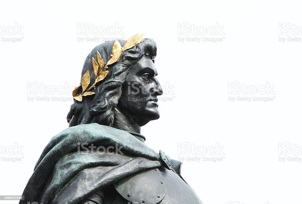 Matthias Rex statue stock photo