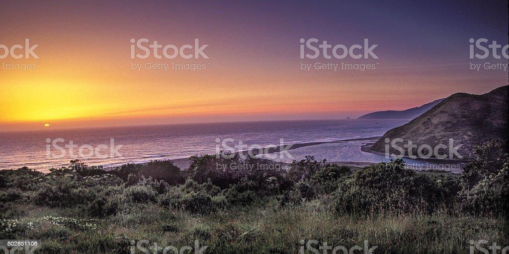 Mattole sunset stock photo