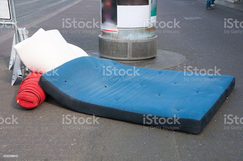 Mattress on the street, stock photo