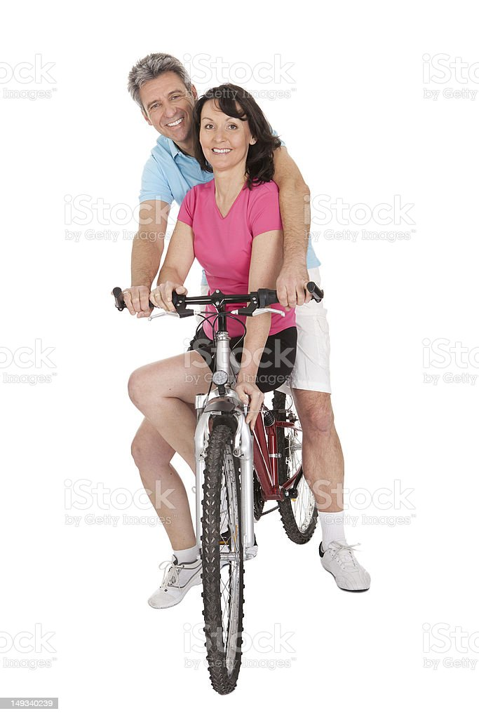 Mature active couple doing sports royalty-free stock photo