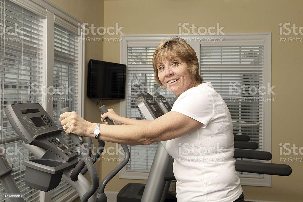 Mature Adult Exercising stock photo