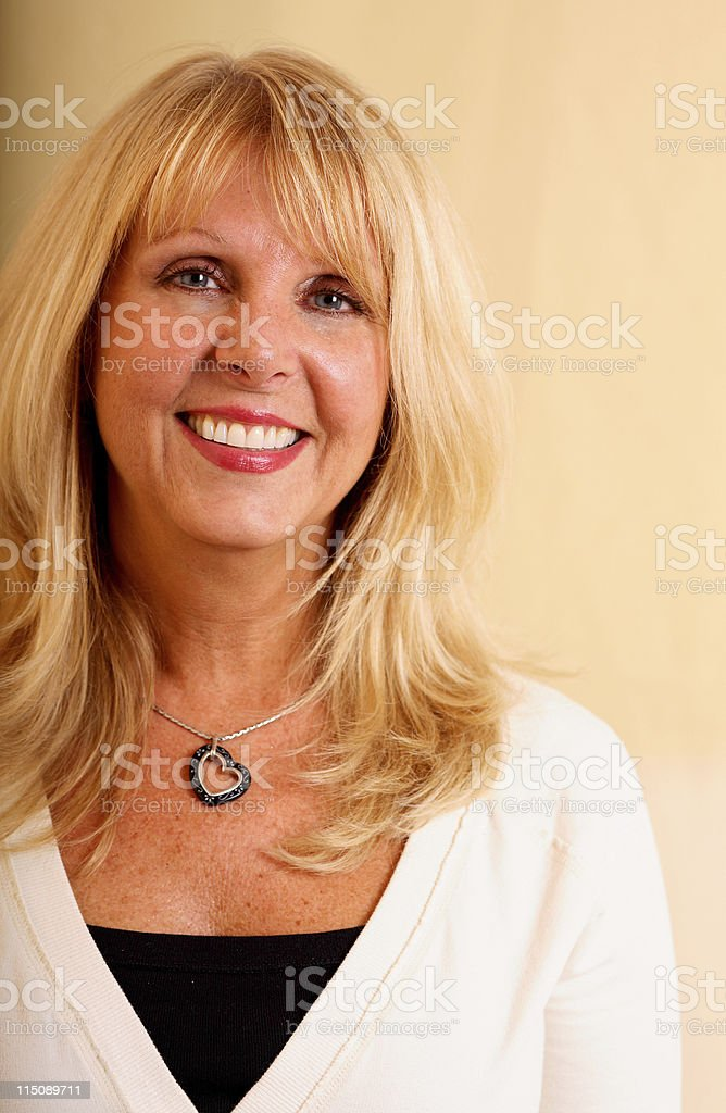 mature adult female beauty portrait royalty-free stock photo