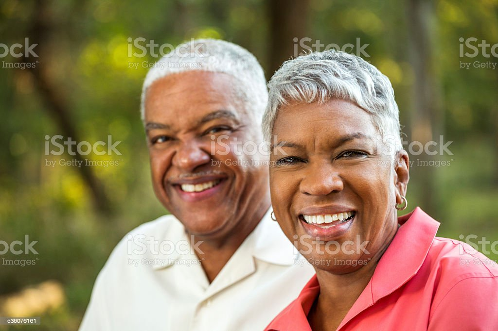 Mature African American Couple stock photo