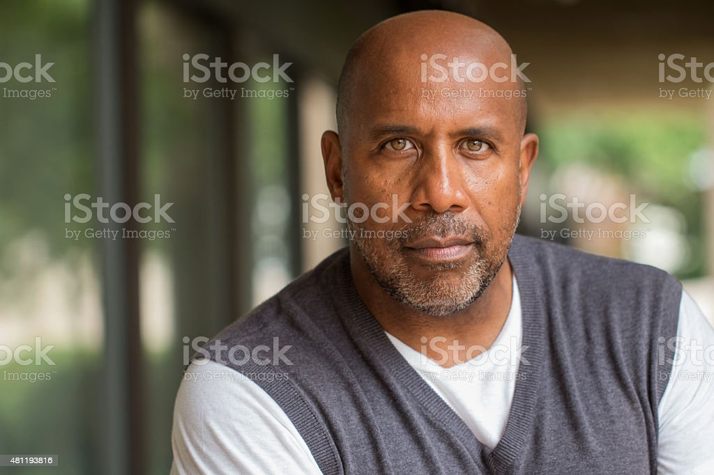 Mature African American Man stock photo