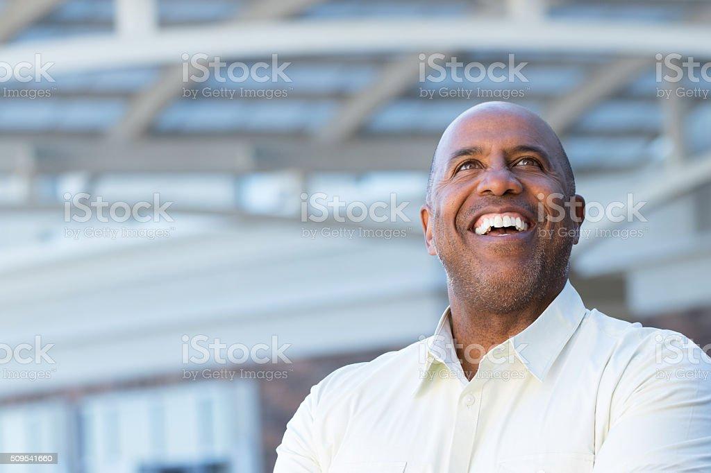 Mature African American man stock photo