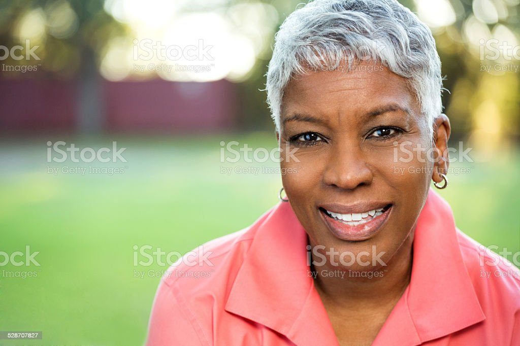 Mature African American Woman stock photo
