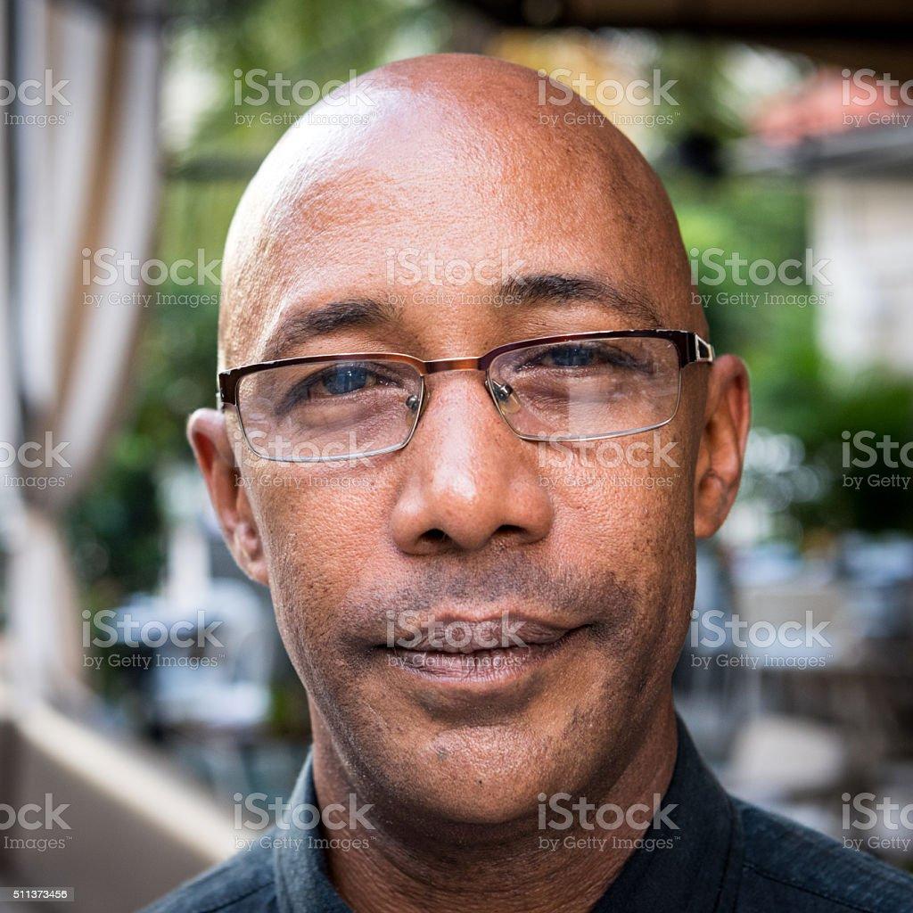 Mature afro caribbean man stock photo