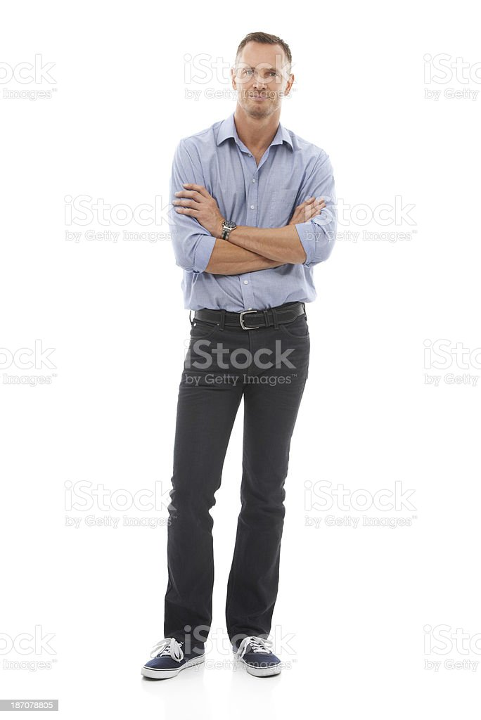 Mature and confident stock photo