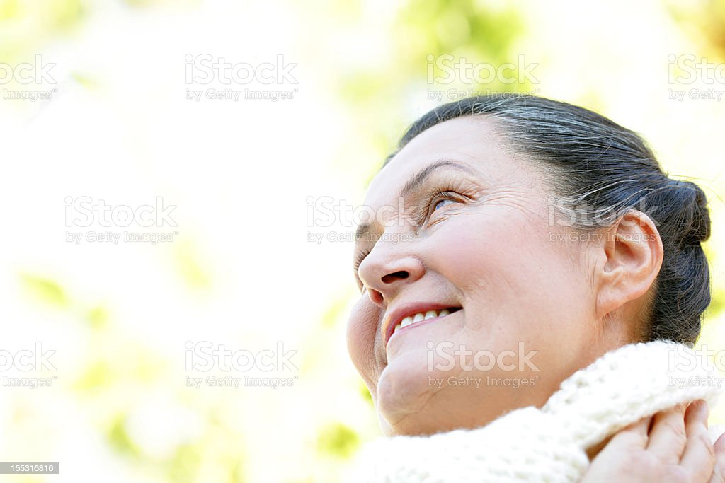 Mature and happy royalty-free stock photo