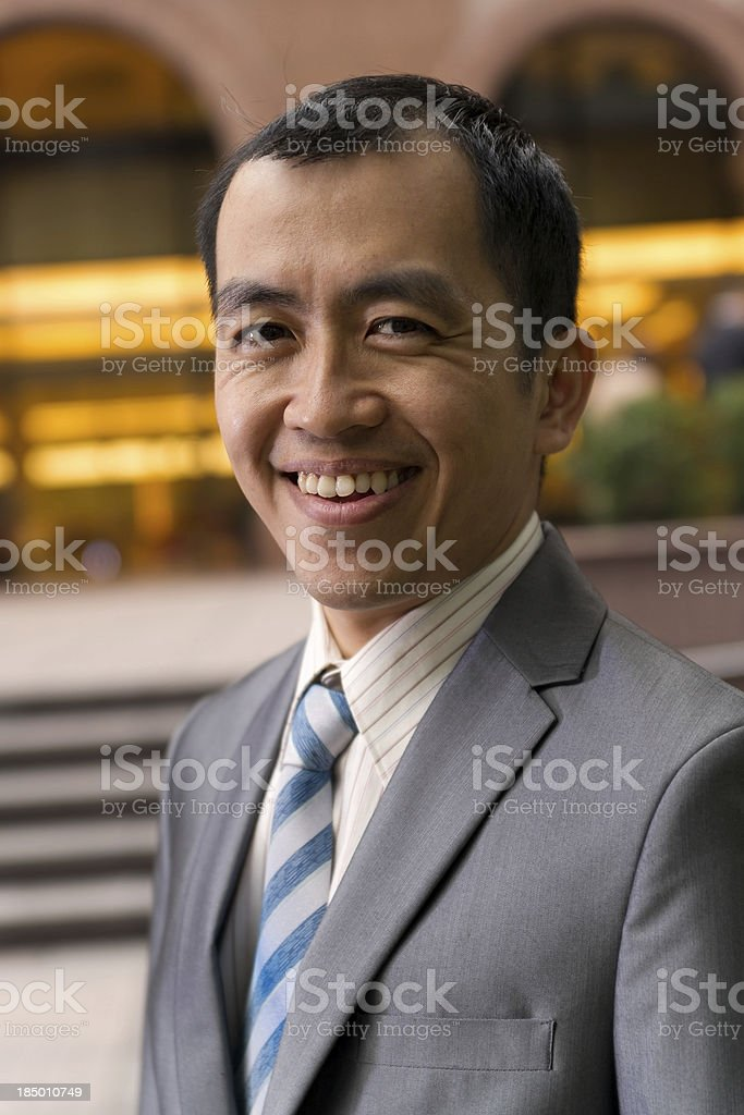 mature Asian business man royalty-free stock photo