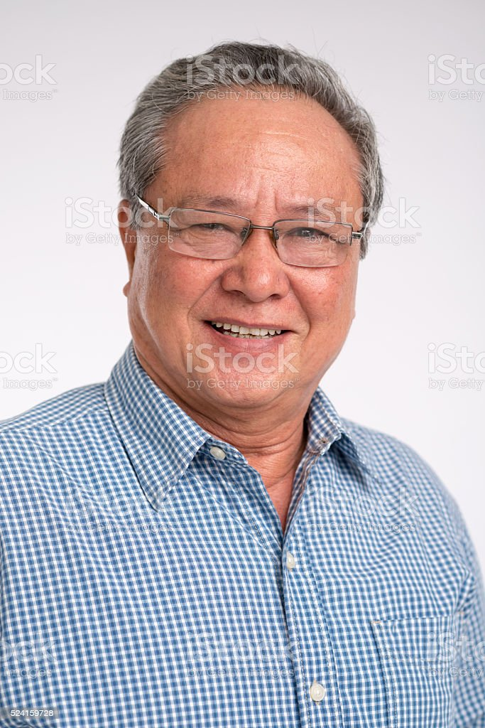 Mature Asian man stock photo