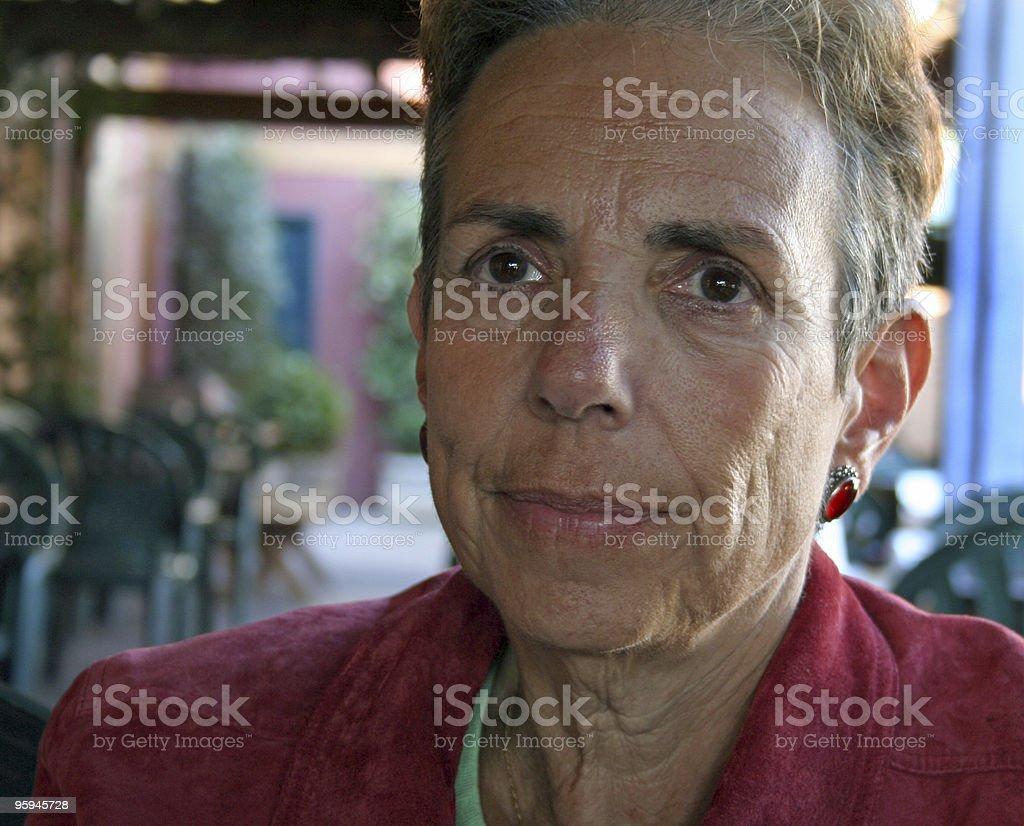 Mature Beautiful Woman royalty-free stock photo