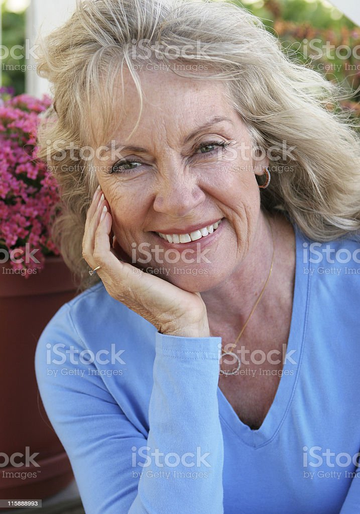 Mature Beauty - Happy royalty-free stock photo