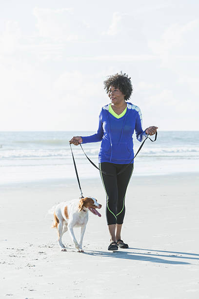Image result for images of a middle aged black woman walking her dog