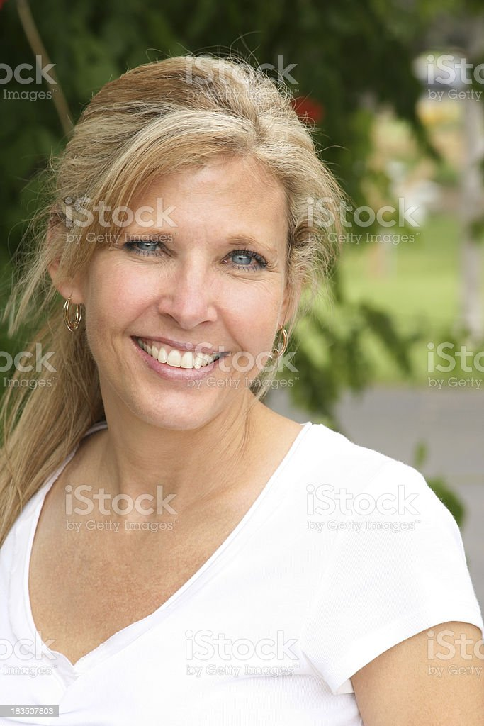 Mature Blond royalty-free stock photo