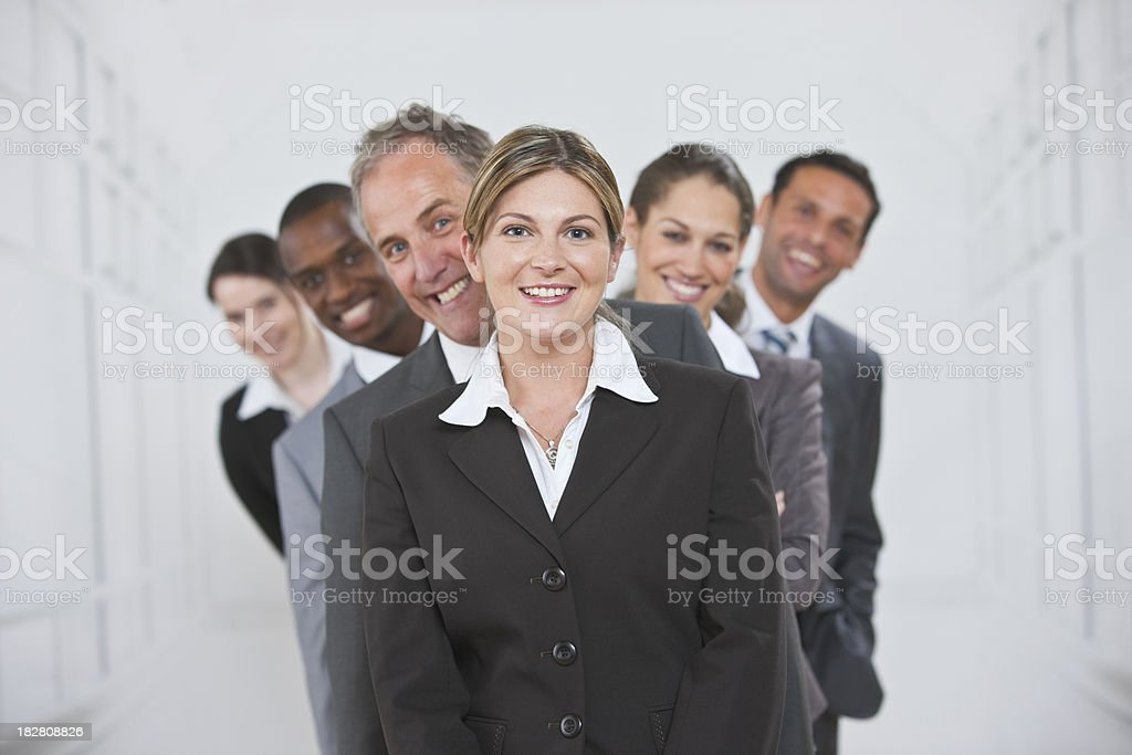 mature Business Group standing in line royalty-free stock photo