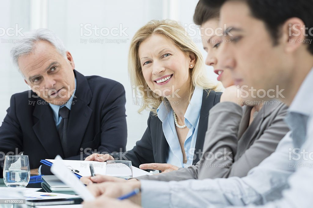 Mature business woman in Meeting royalty-free stock photo