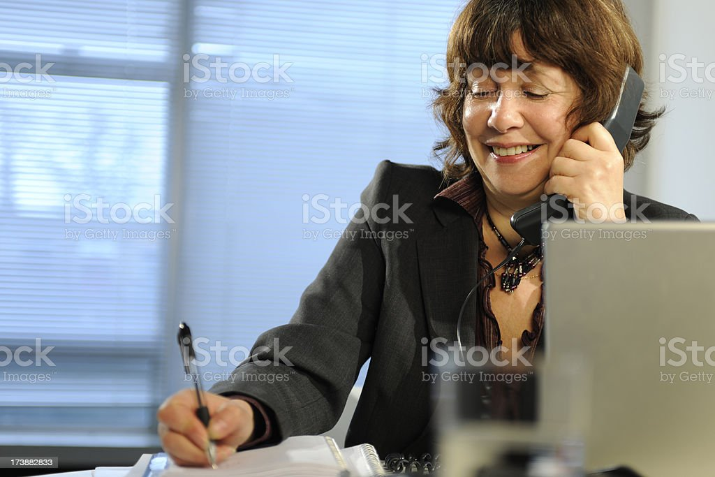 mature business woman royalty-free stock photo