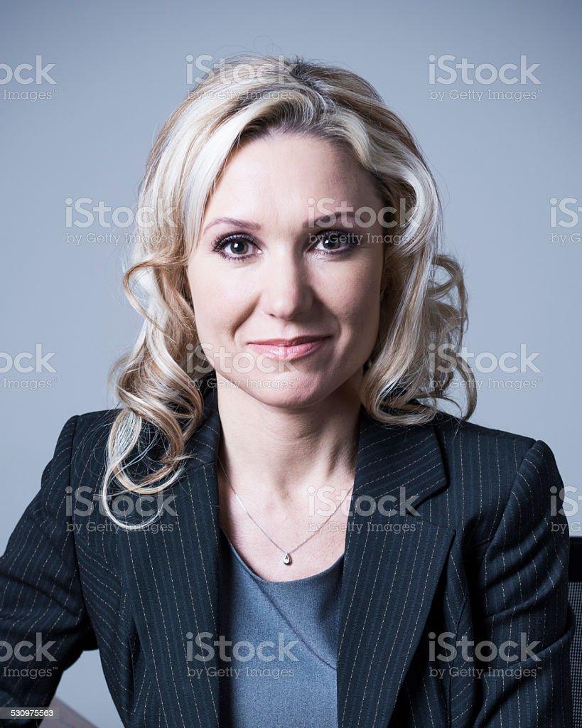 Mature business woman portrait stock photo