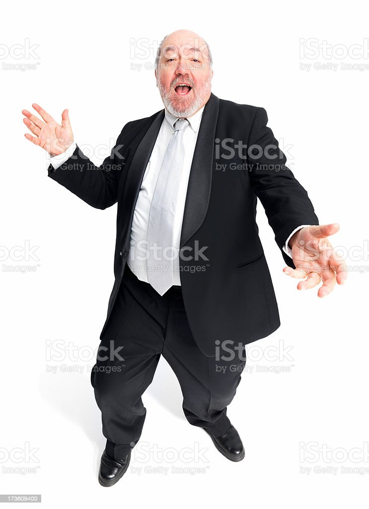 Mature businessman against white background royalty-free stock photo