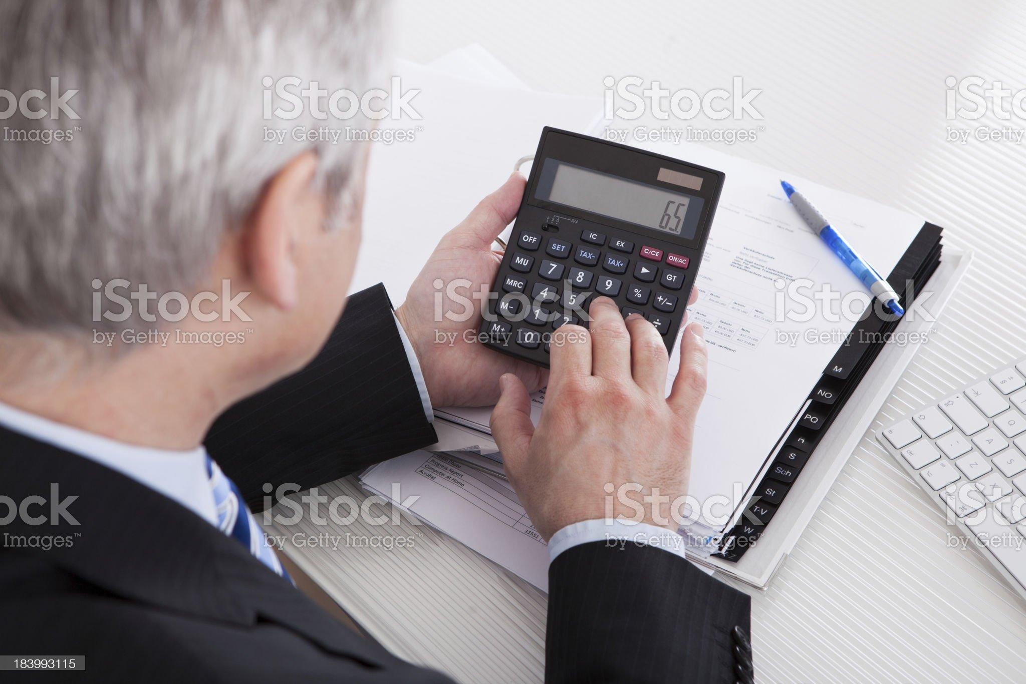 Mature Businessman At Work royalty-free stock photo
