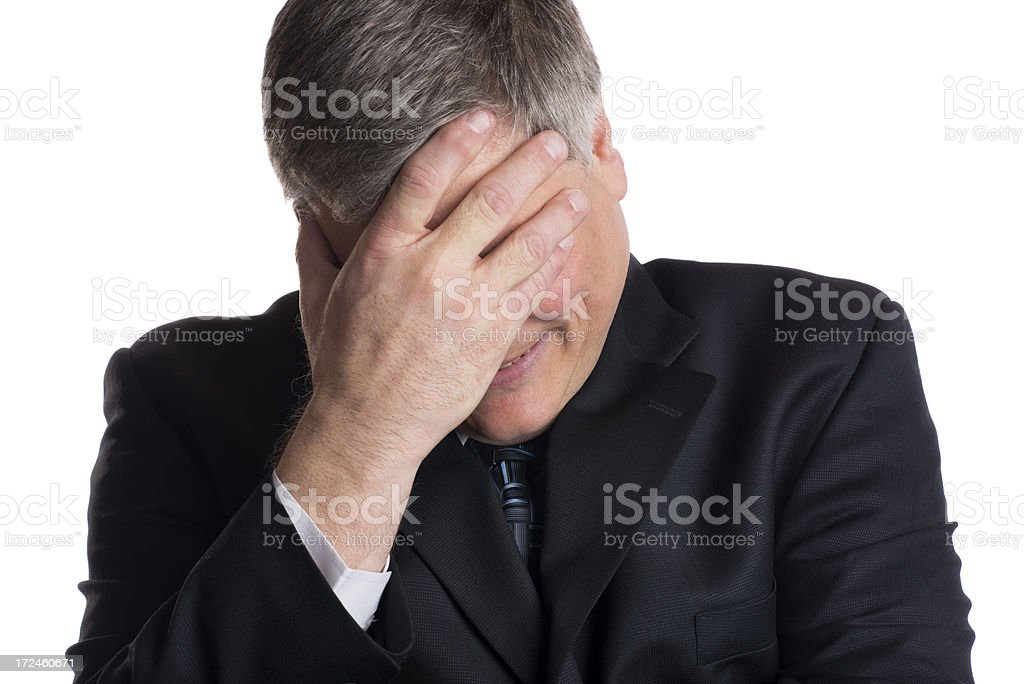 Mature Businessman Experiencing Stress of Failure royalty-free stock photo
