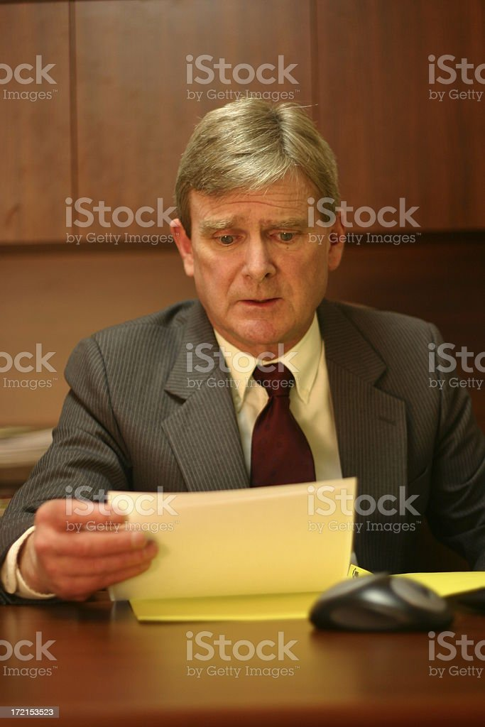 Mature Businessman - Look of concern royalty-free stock photo