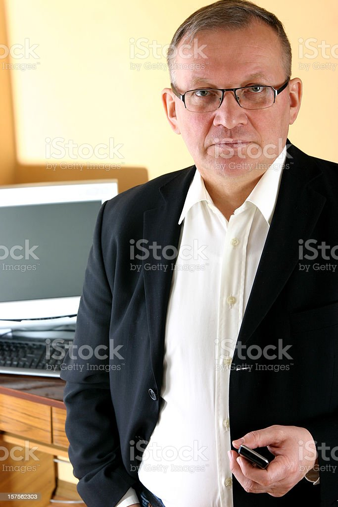 Mature businessman stock photo