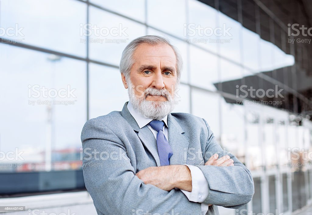Mature businessman stock photo
