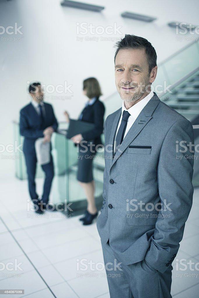 Mature businessman portrait royalty-free stock photo
