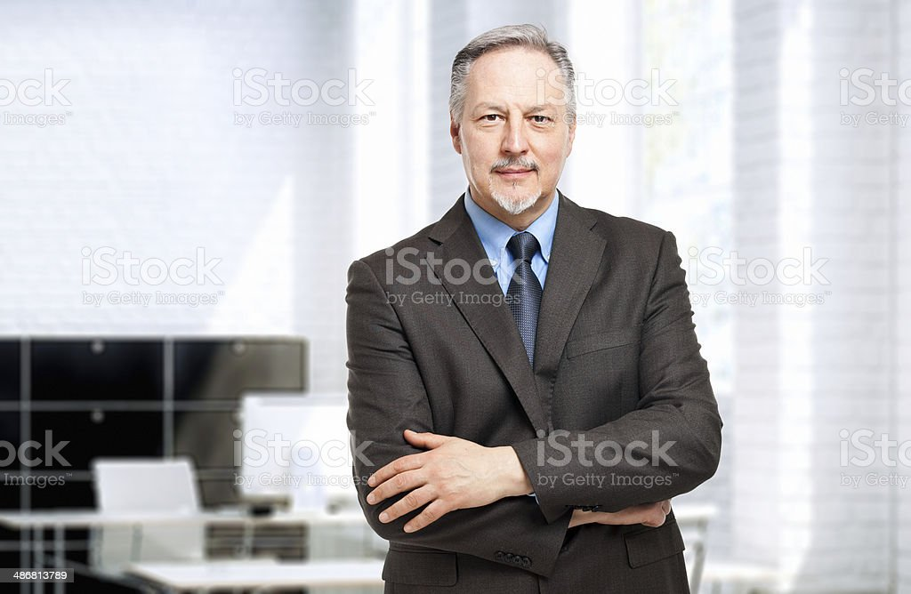 Mature businessman portrait stock photo