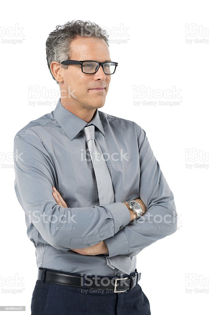 Mature Businessman With Glasses stock photo