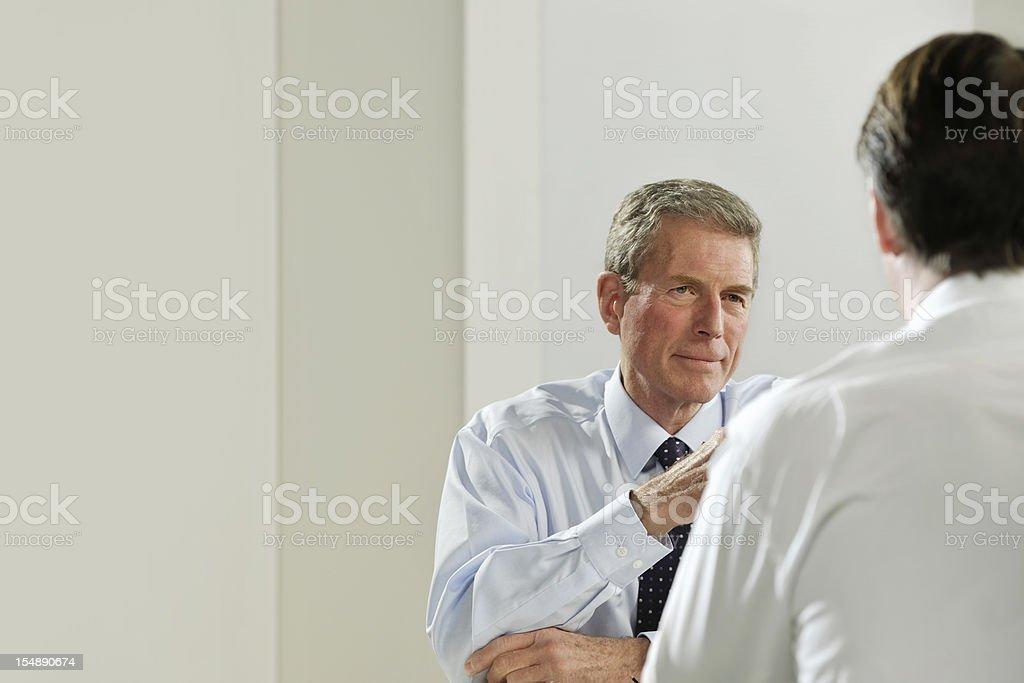 mature businessmen royalty-free stock photo