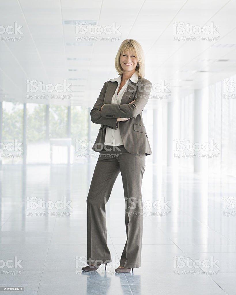 Mature Businesswoman - Full Length stock photo