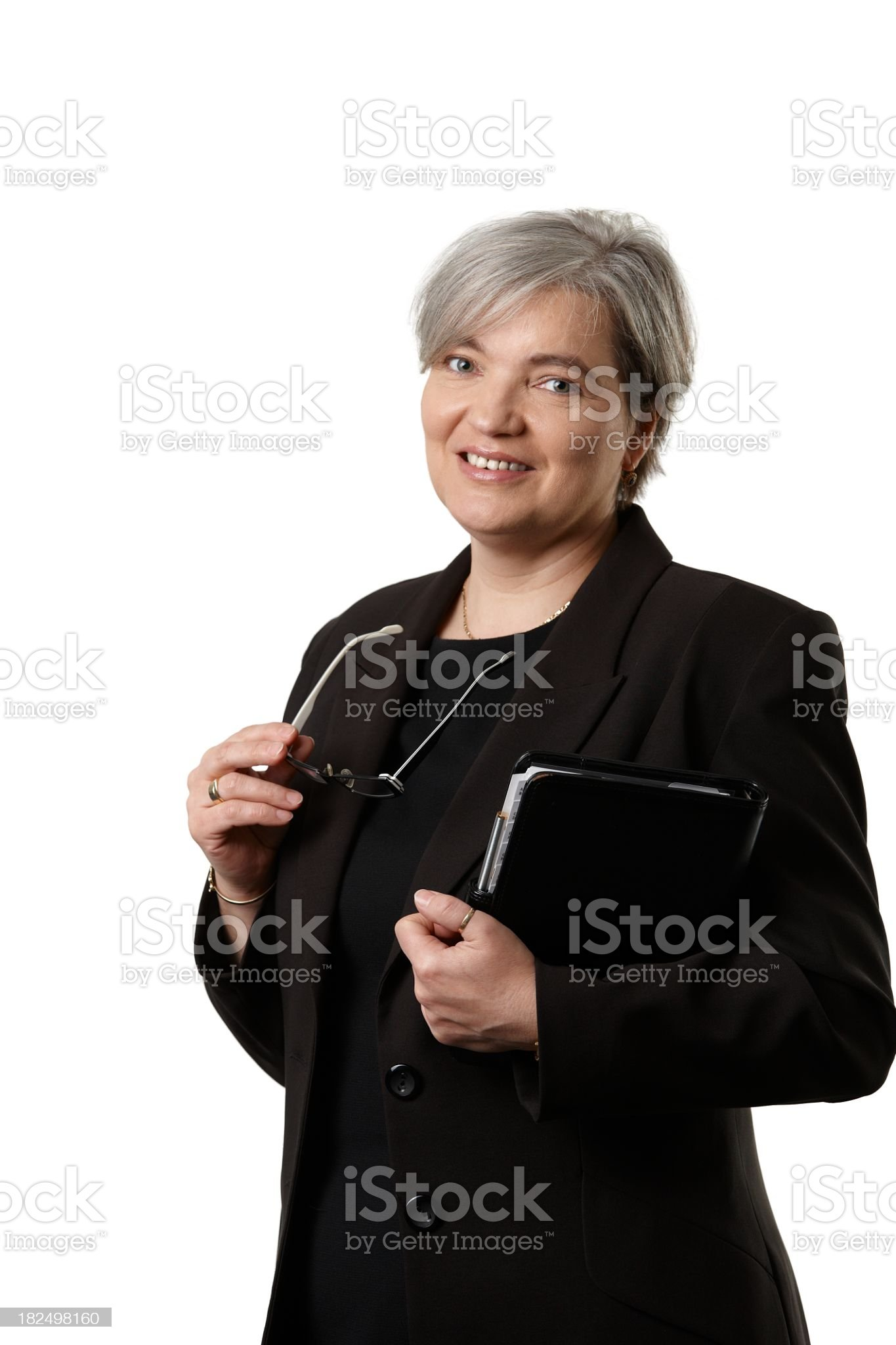 Mature businesswoman royalty-free stock photo
