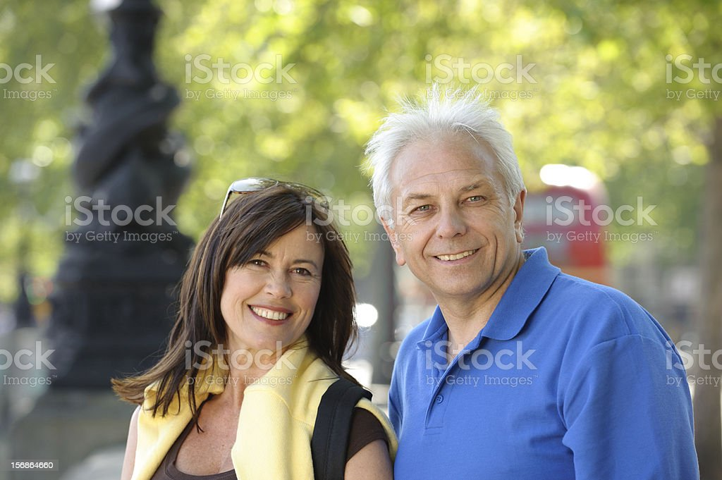 Mature Caucasian Couple in London royalty-free stock photo