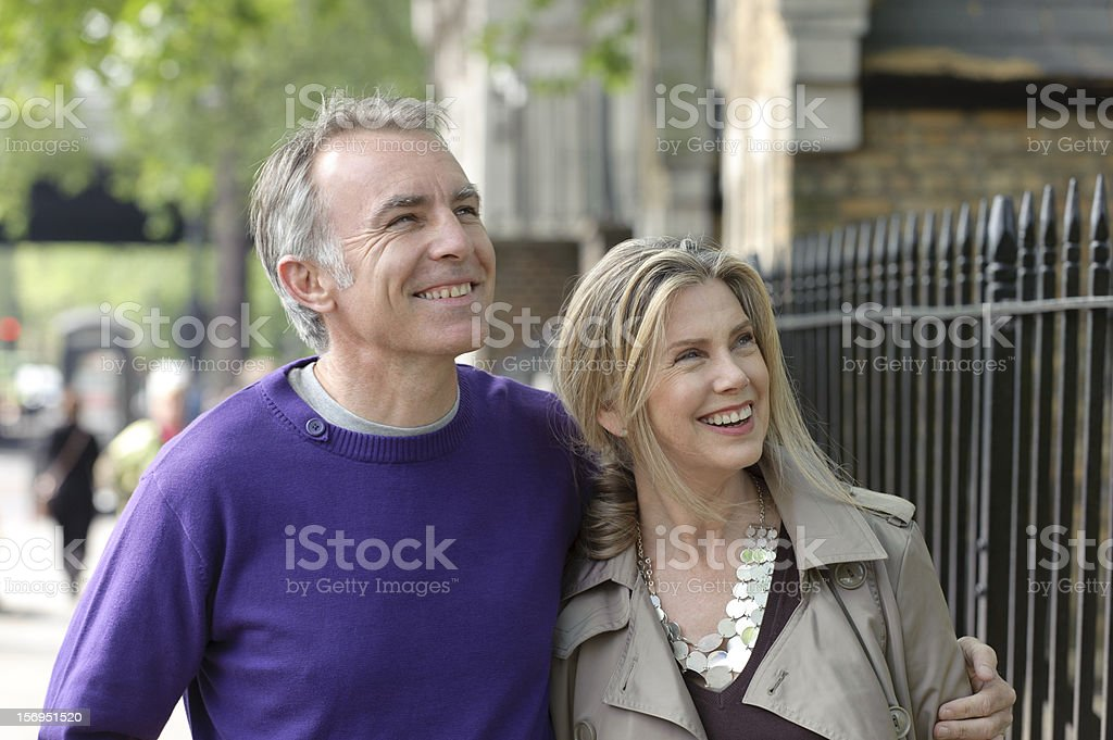 Mature Caucasian Couple Sightseeing royalty-free stock photo