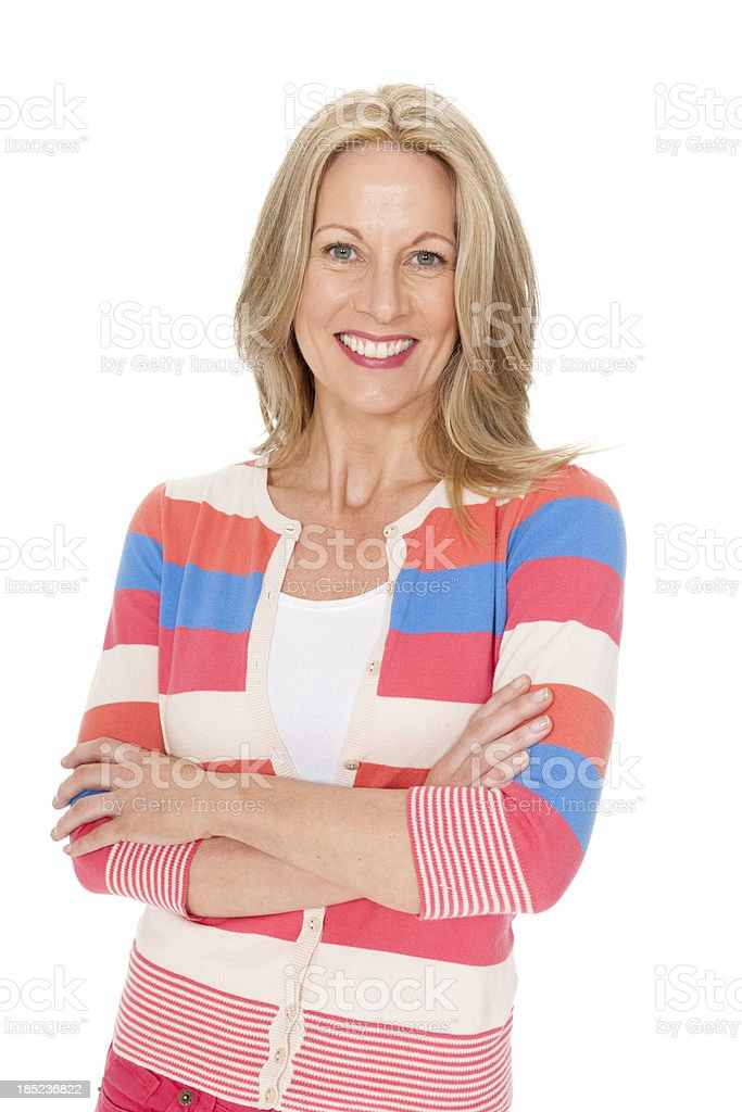 Mature Caucasian Woman - Isolated royalty-free stock photo