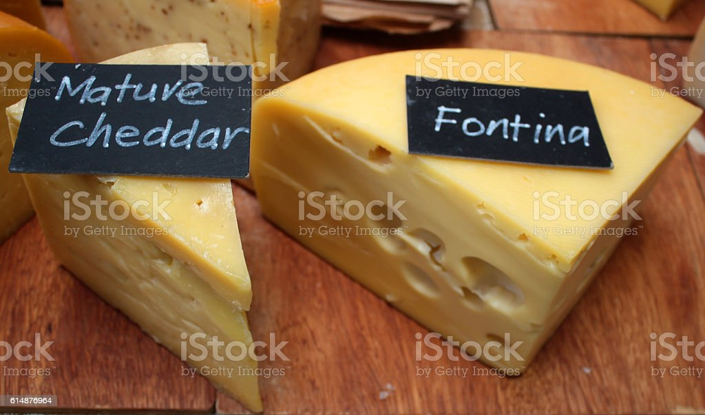 Mature Chedder Cheese - stock image stock photo
