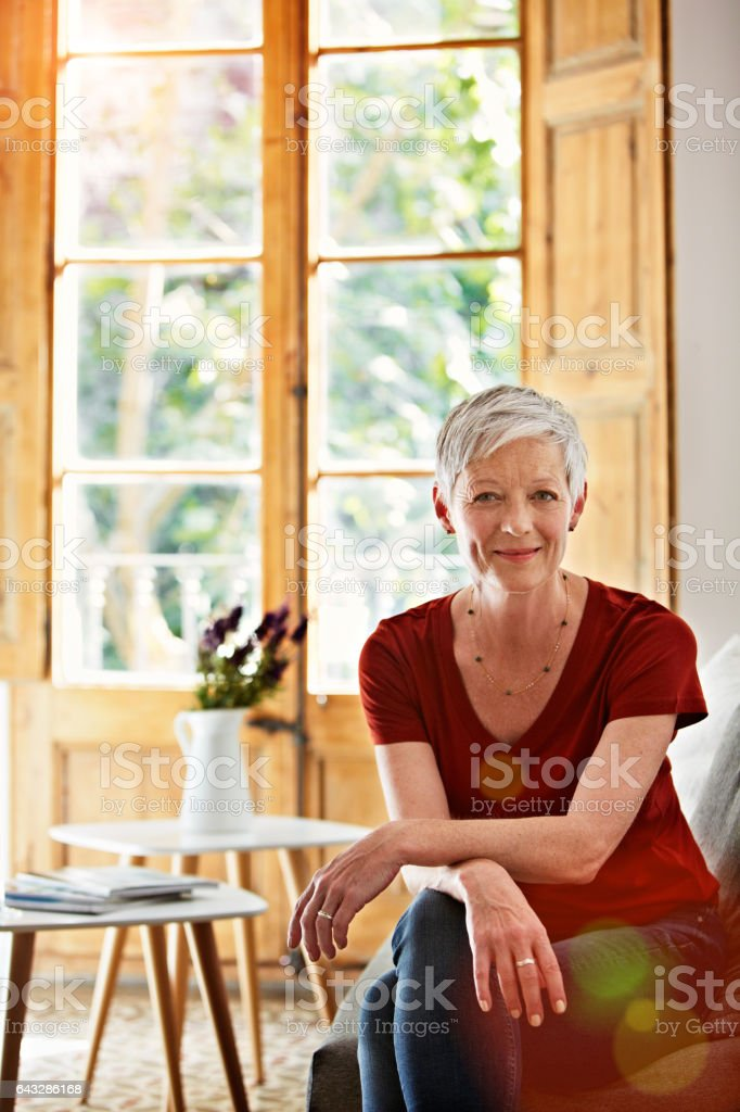 Mature, confident and carefree stock photo