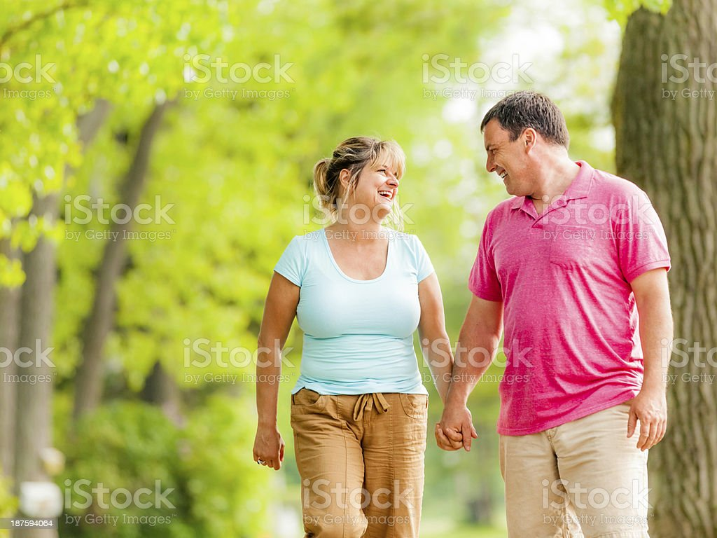 Mature Couple Active Lifestyle royalty-free stock photo
