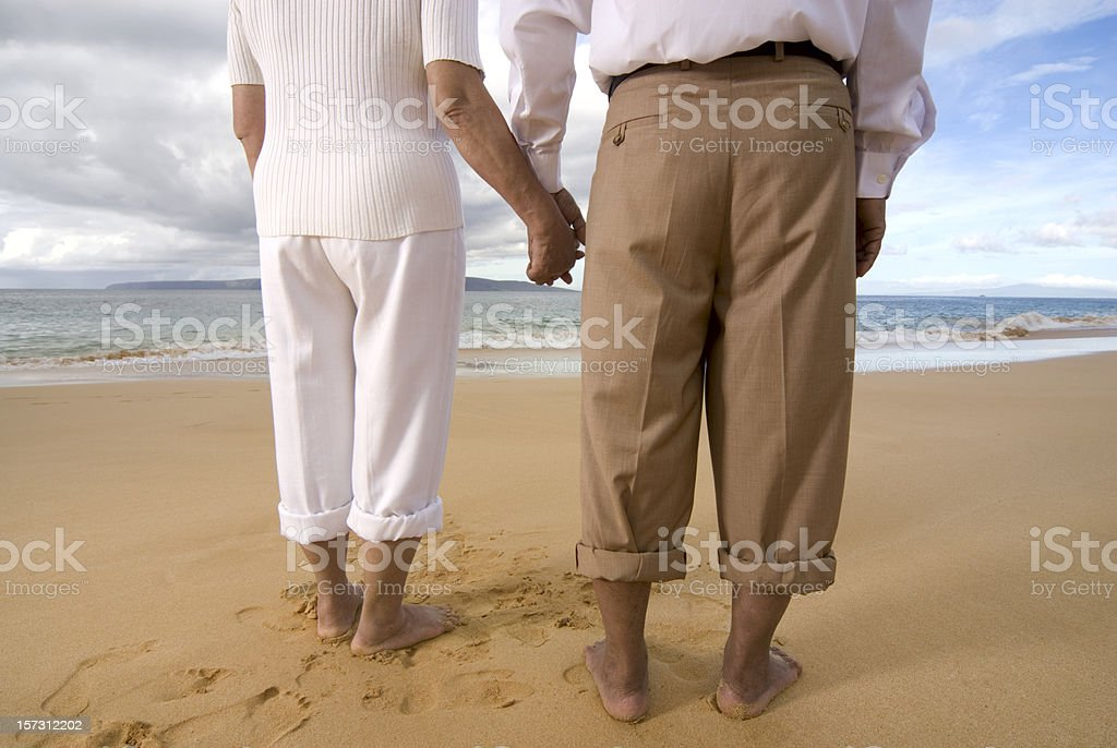 Mature Couple At The Beach royalty-free stock photo